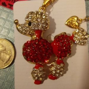 Betsey Johnson Adorable Poodle Necklace